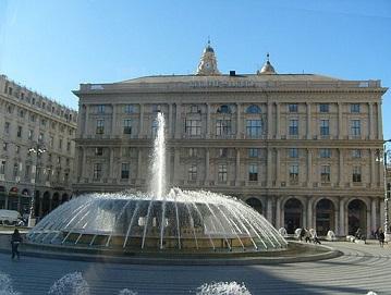 Fontein aan de Piazza Raffaele De Ferrari