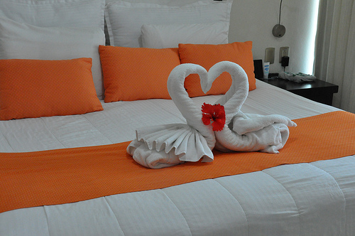 heart shape towel
