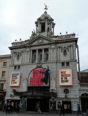 The Victoria Palace Theatre opposite Victoria Station