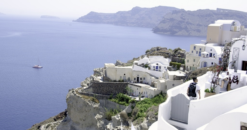 Santorini-View from Village of Oia
