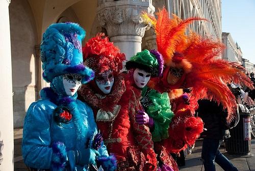 Collage of Colour - Carnival in Venice