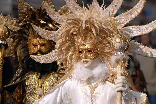 Mask for the carnival in Venice